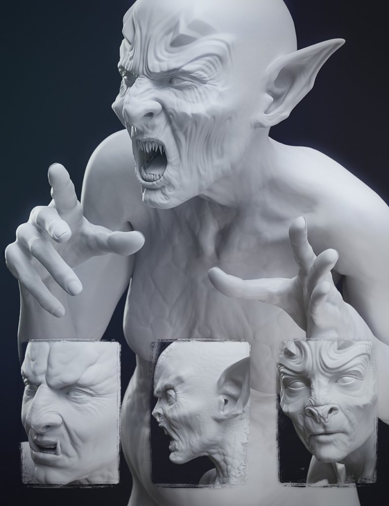 Fantasy Creature Creator HD Morph Pack for Genesis 3 Female_DAZ3D下载站