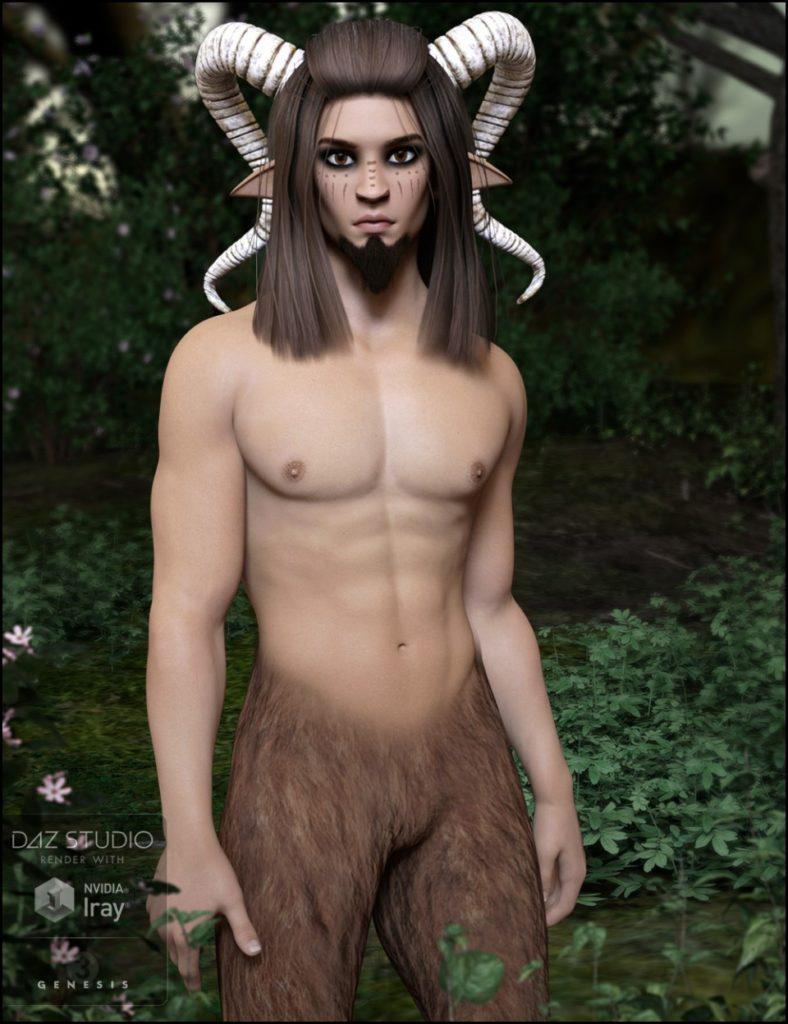 Forest Fantasy: Satyrn for Genesis 3 Male(s)_DAZ3D下载站