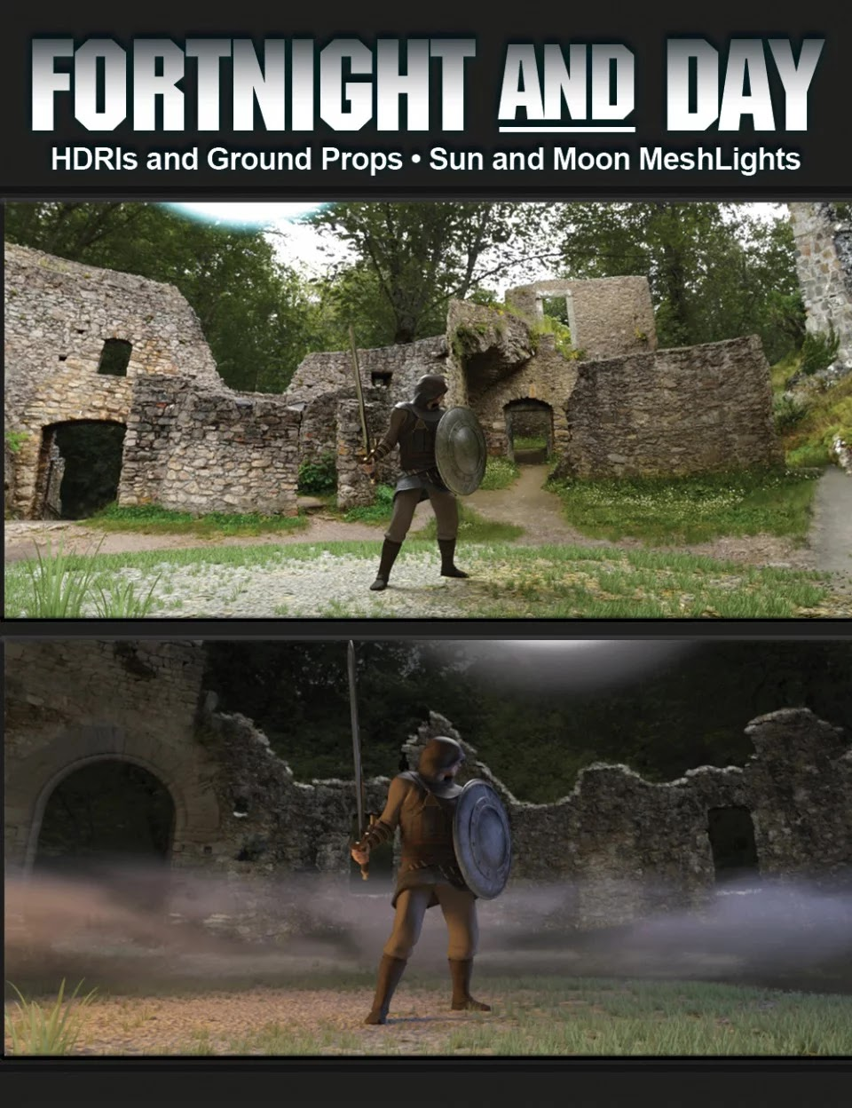 FortNight and Day HDRI and Props_DAZ3D下载站
