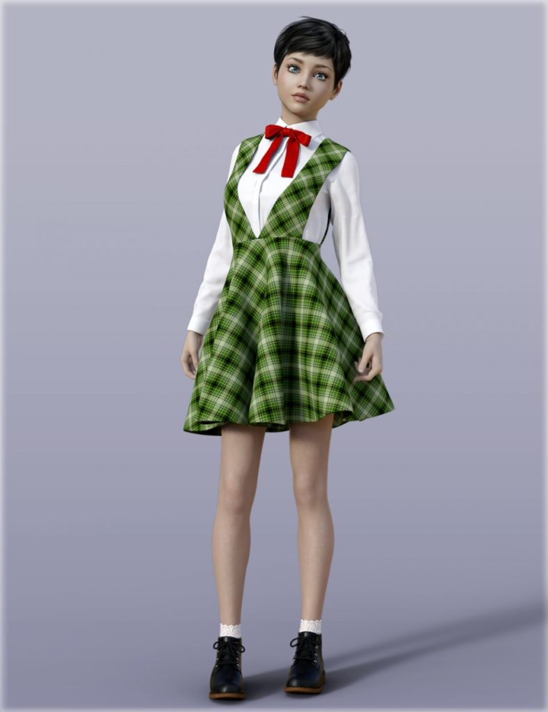 H&C School Uniforms A for Genesis 3 Female(s)_DAZ3D下载站