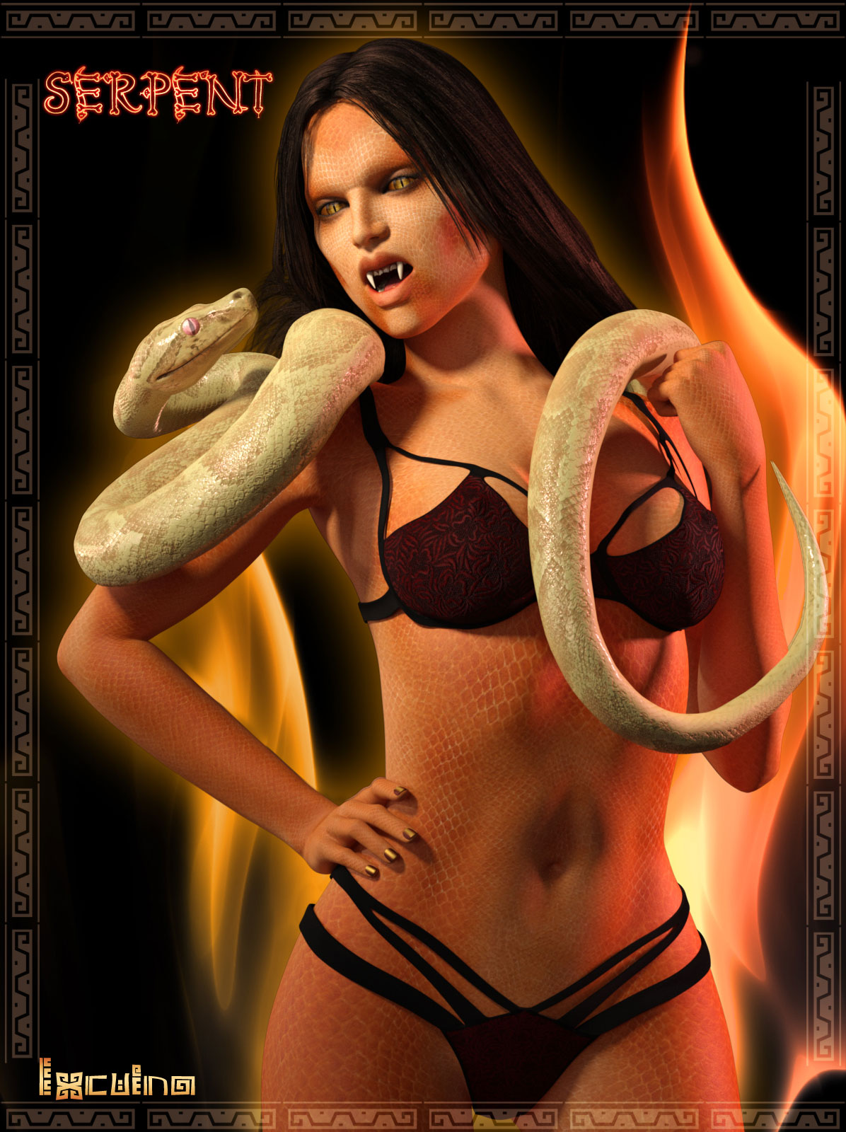 Ixcuina Serpent Addon for G3F_DAZ3D下载站