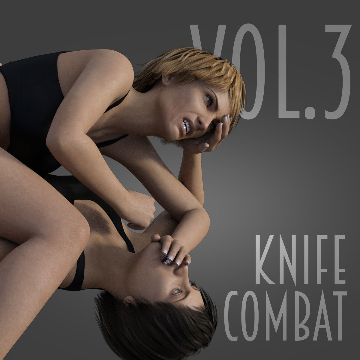 Knife Combat vol.3 for Genesis 8 Female_DAZ3D下载站