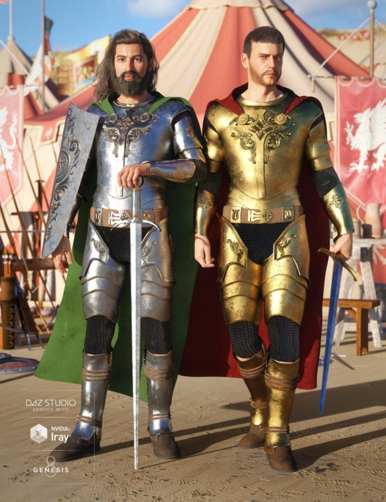 Knight Champion Outfit Textures_DAZ3D下载站