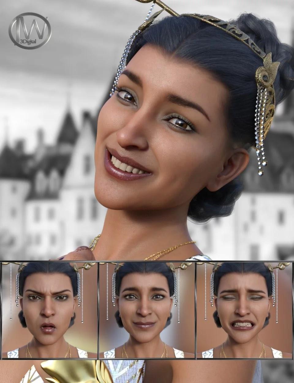 Like a Princess – Expressions for Genesis 8 Female and Kala 8_DAZ3D下载站