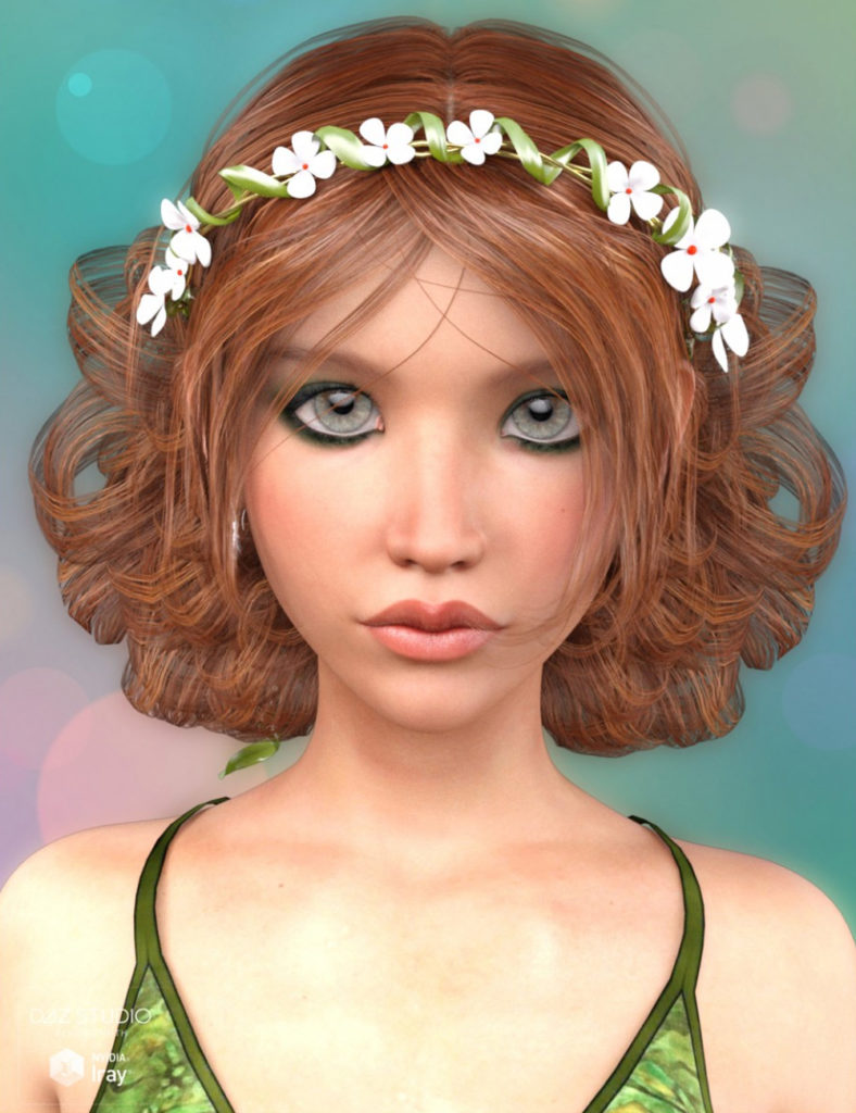 Lorin Hair for Genesis 3 Female(s)_DAZ3D下载站