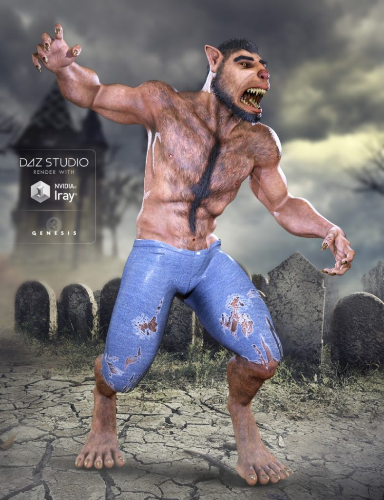 Midnight Lycan for Genesis 3 Male_DAZ3D下载站