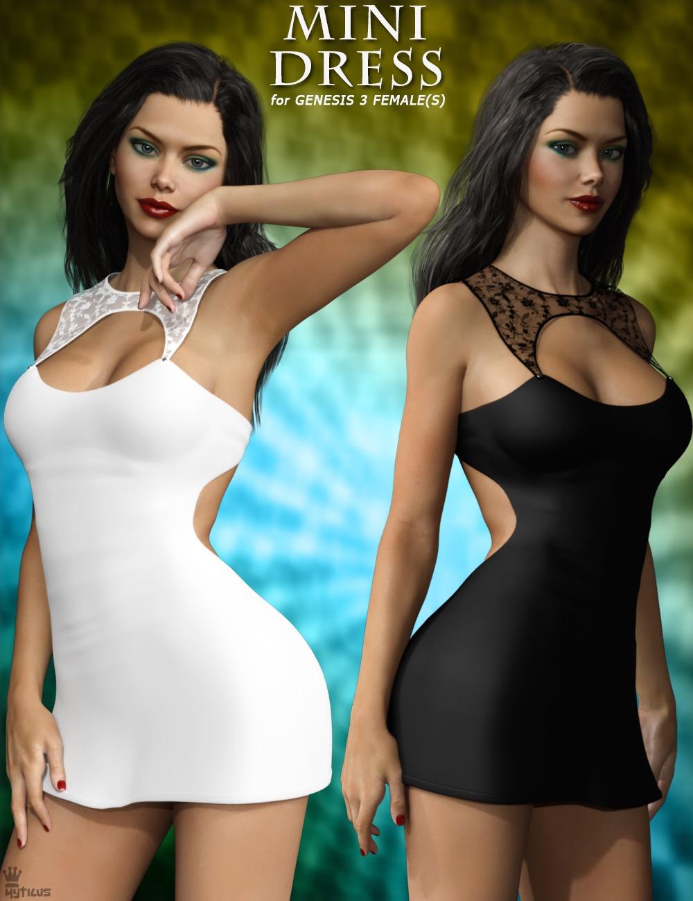 Mini Dress For Genesis 3 Females_DAZ3D下载站