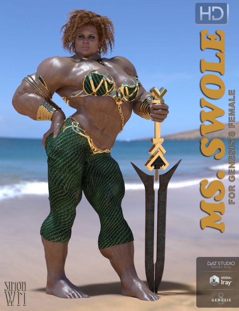 Ms SWOLE for Genesis 8 Female_DAZ3D下载站