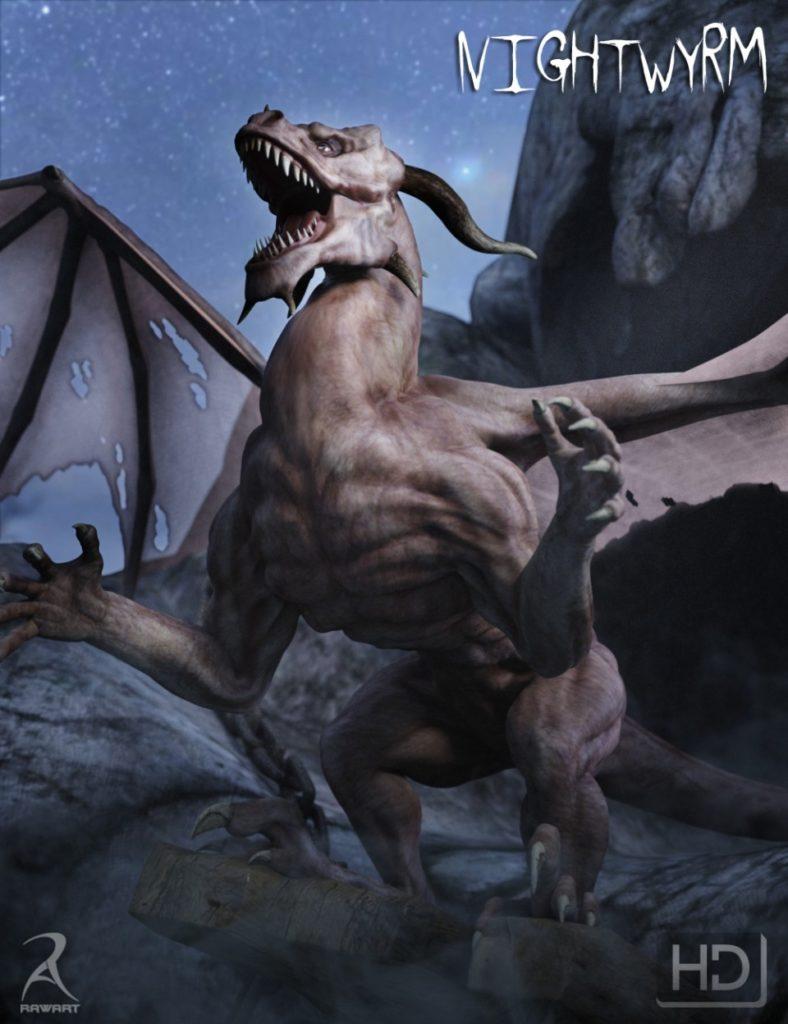 NightWyrm – The Vampire Dragon HD_DAZ3D下载站