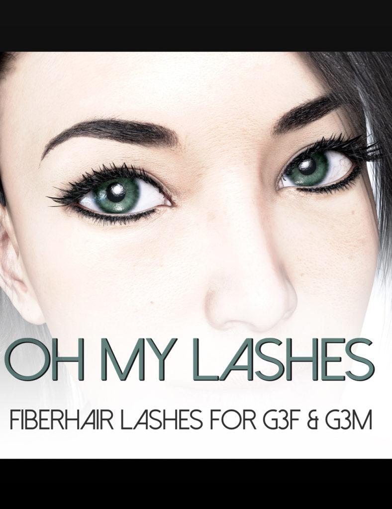 Oh My Lashes Fiberhair Eyelashes for G3F & G3M_DAZ3D下载站