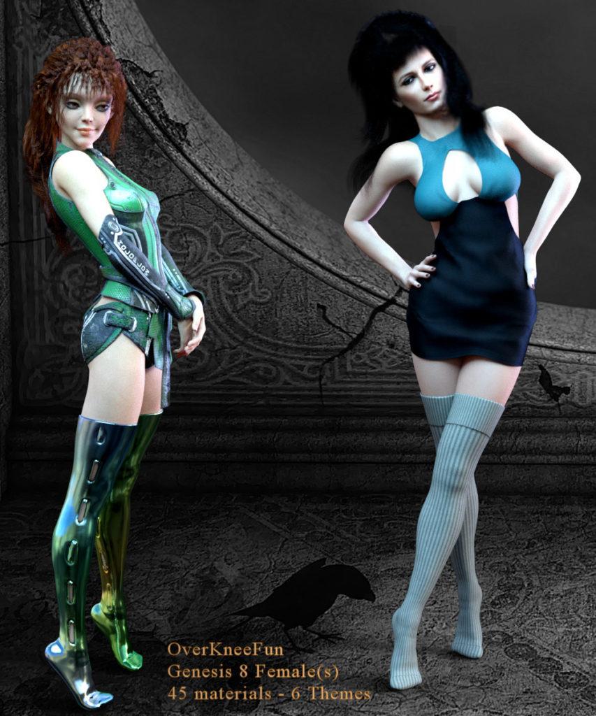 OverKneeFun for Genesis 8 Female_DAZ3D下载站
