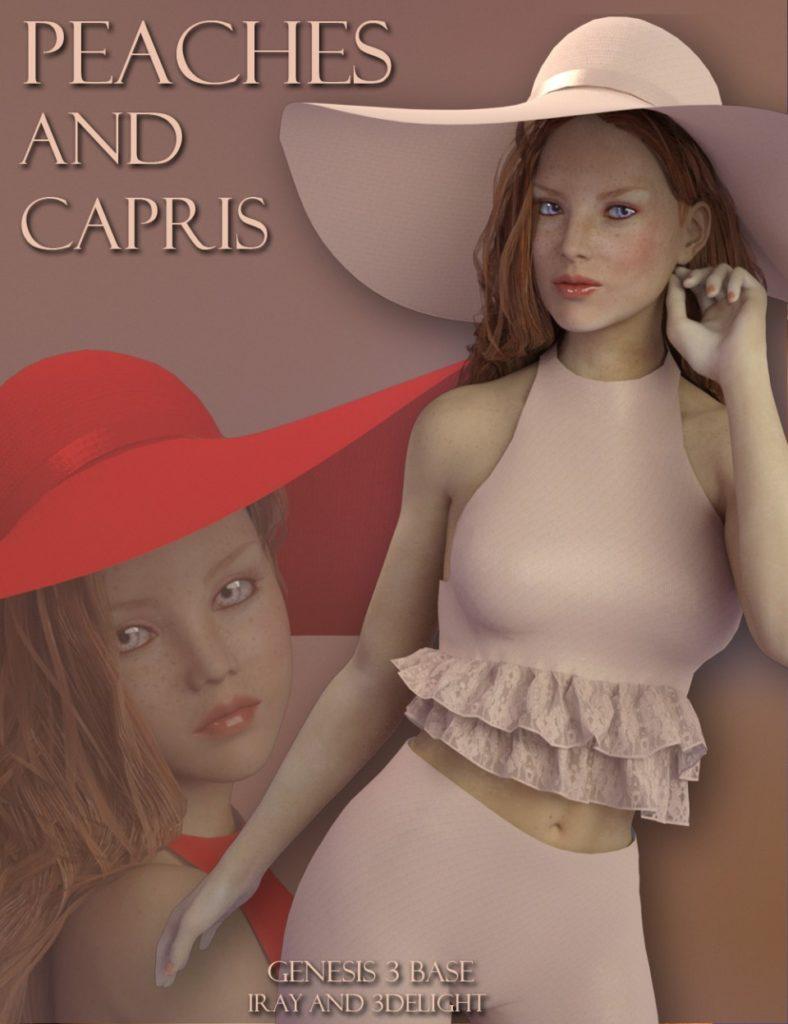 Peaches And Capris for Genesis 3 Female(s)_DAZ3D下载站