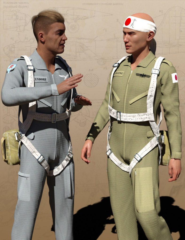 Pilot Uniform Materials of WWII_DAZ3D下载站