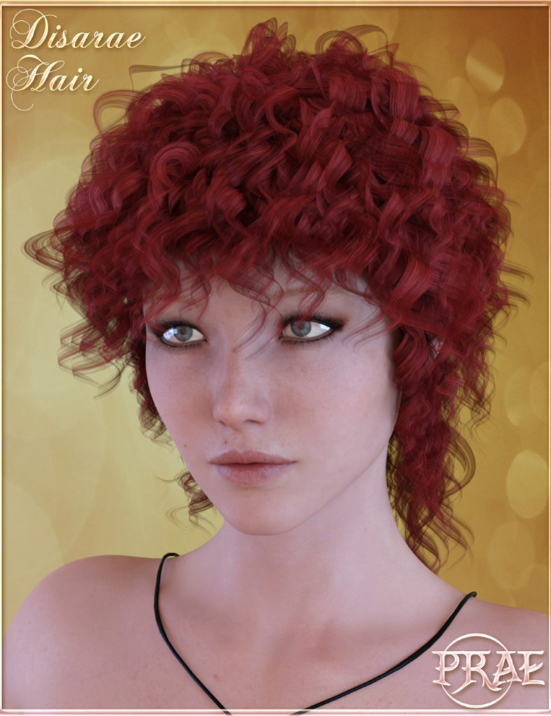 Prae-Disarae Hair For Genesis 3_DAZ3D下载站