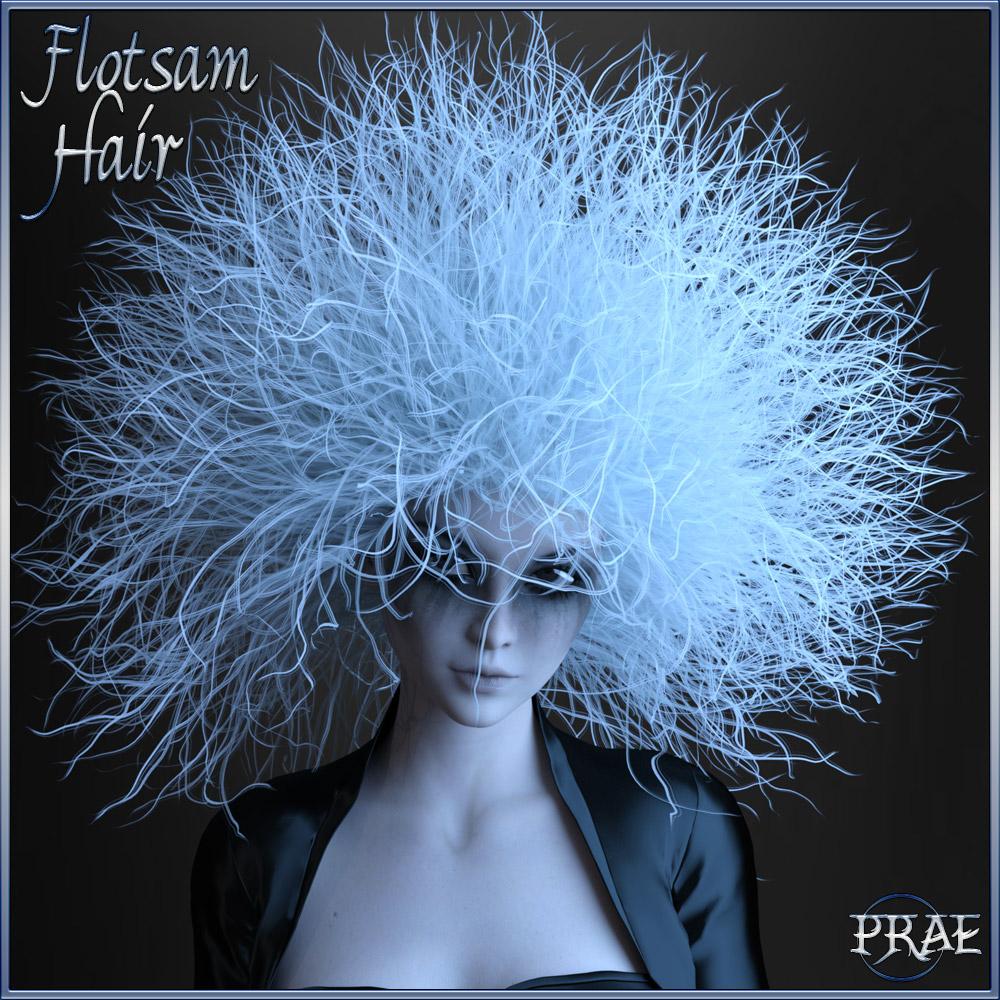 Prae-Flotsam Hair G3/G8_DAZ3D下载站