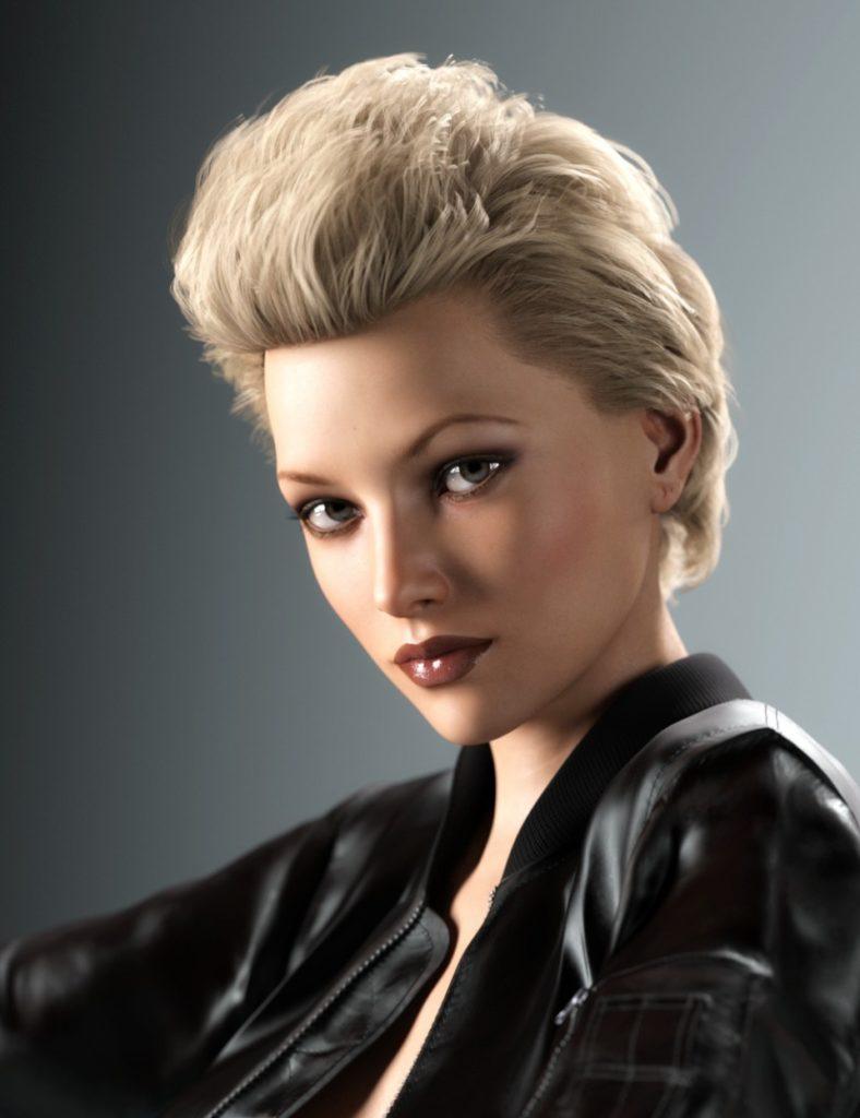 Rachel Hair for Genesis 3 and 8 Female(s)_DAZ3D下载站