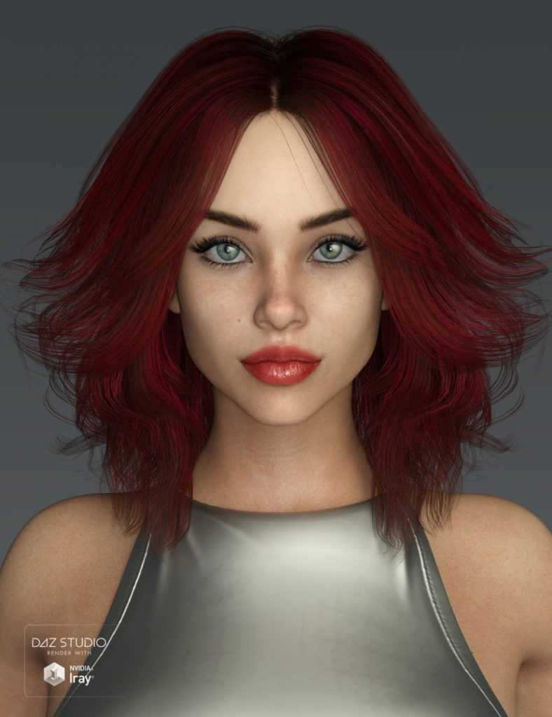 Riona Hair for Genesis 3 and 8 Female(s)_DAZ3D下载站