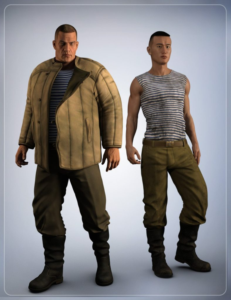Russian Clothing for Genesis 3 Male(s)_DAZ3D下载站