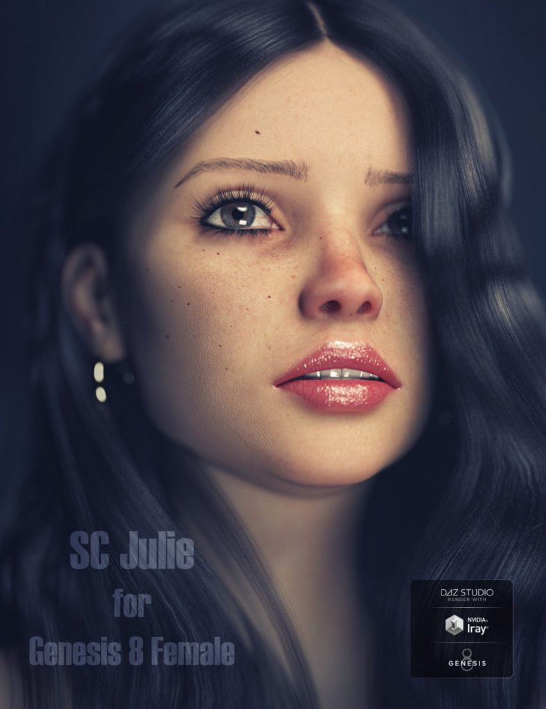 SC Julie HD for Genesis 8 Female_DAZ3D下载站
