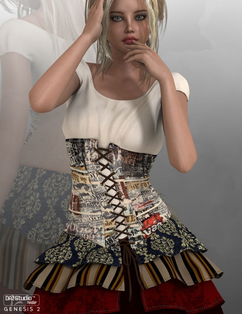 Sadie Dress + Outdated Add-on G2F_DAZ3D下载站