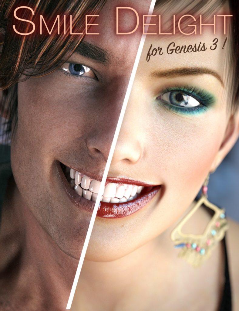 Smile Delight for Genesis 3 Bundle_DAZ3D下载站