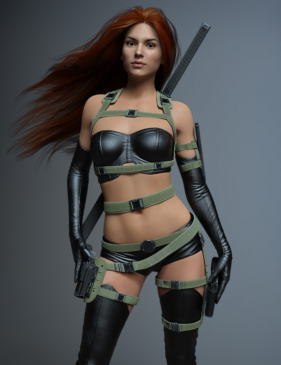 Tactical Belts for Genesis 3 and 8 Female(s)_DAZ3D下载站