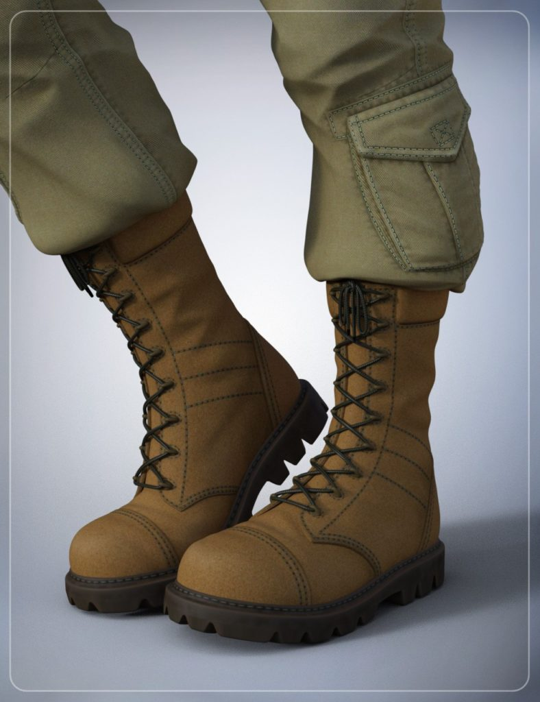 Tactical Boots for Genesis 3 Male(s)_DAZ3D下载站