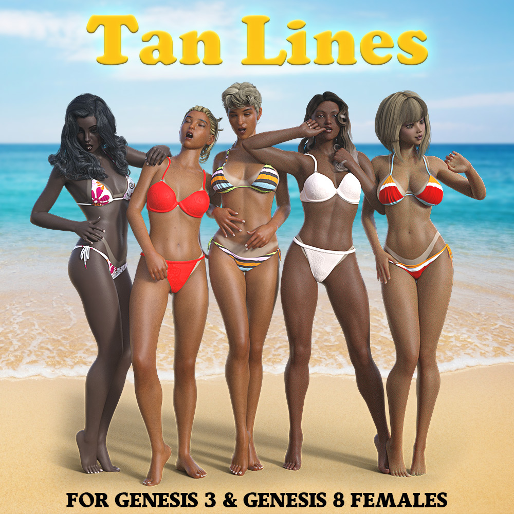 TanLines for G3F & G8F_DAZ3D下载站