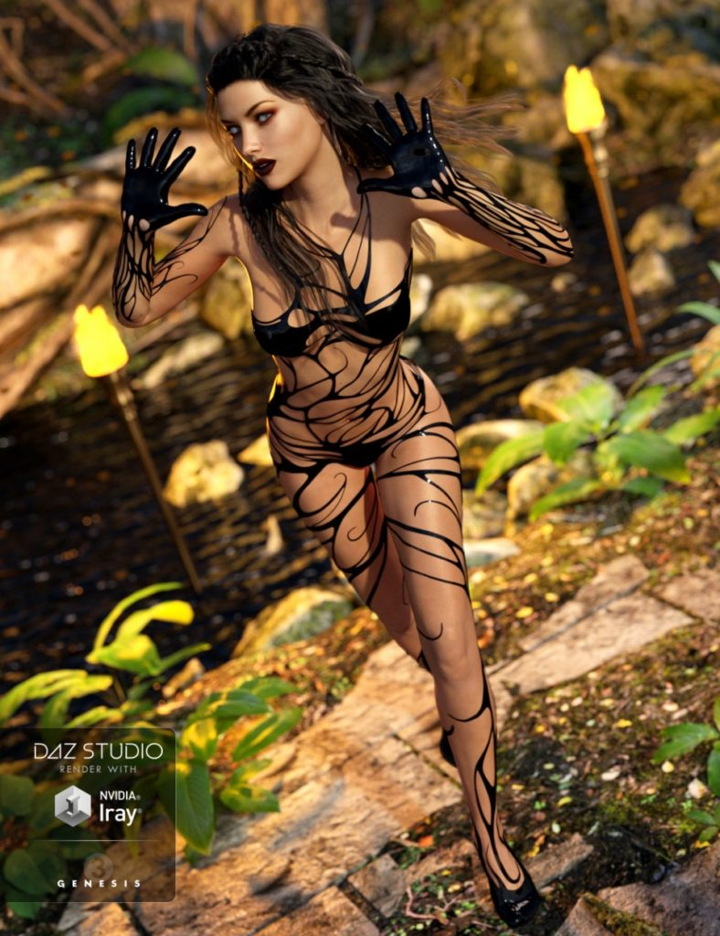 Tangled Outfit for Genesis 3 Female(s) and Genesis 2 Female(s)_DAZ3D下载站