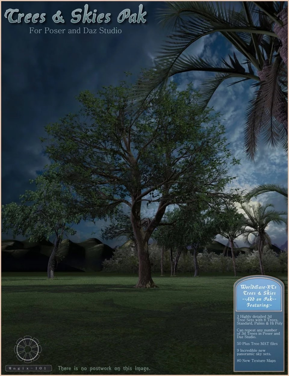 Trees and Skies Pak for WorldBase-XT_DAZ3D下载站