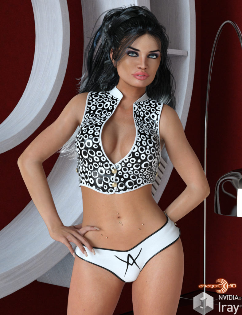 VERSUS – Button Up 2 Outfit for Genesis 3 Females_DAZ3D下载站