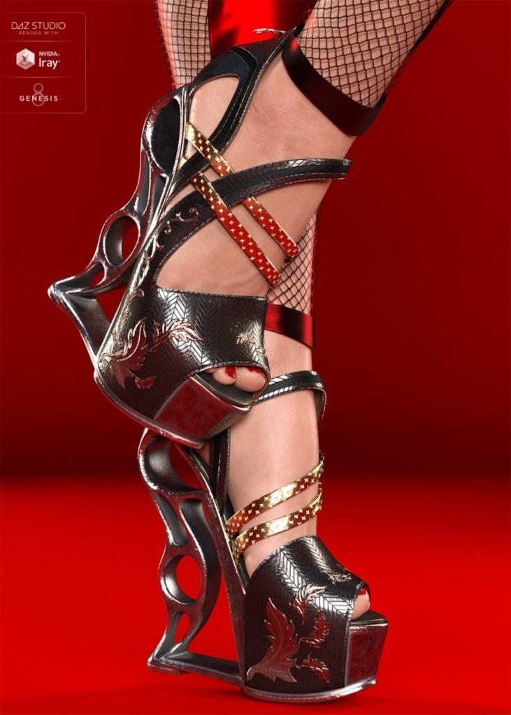 VXZ3 Heels for Genesis 8 Female(s)_DAZ3D下载站