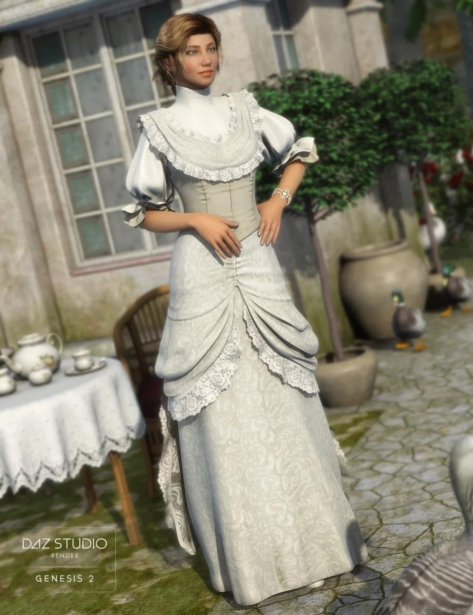 Vintage Rose for Genesis 2 Female(s)_DAZ3D下载站