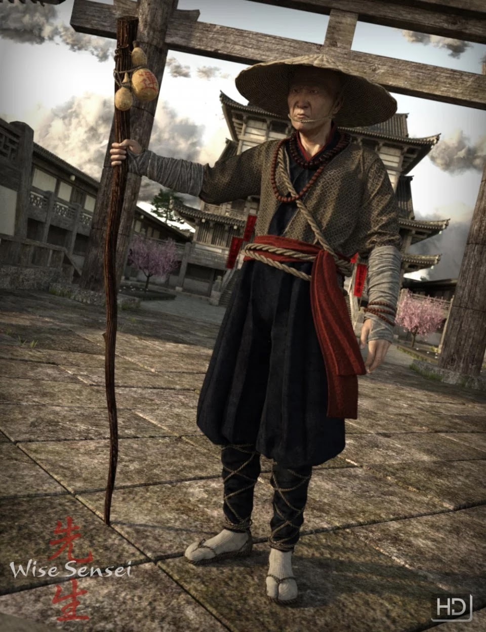 Wise Sensei for Genesis 3 Male(s)_DAZ3D下载站
