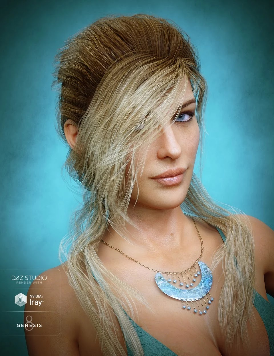 Young Grace Hair for Genesis 8 Female(s)_DAZ3D下载站