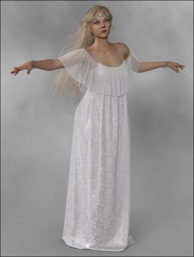 dForce – Long Gypsy Dress for G8F_DAZ3D下载站