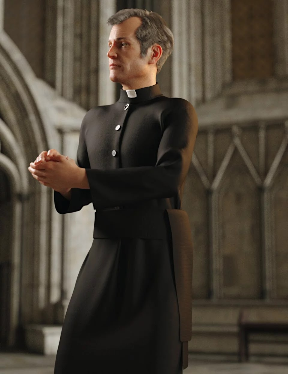 dForce Priest Outfit for Genesis 8 Male(s)_DAZ3D下载站