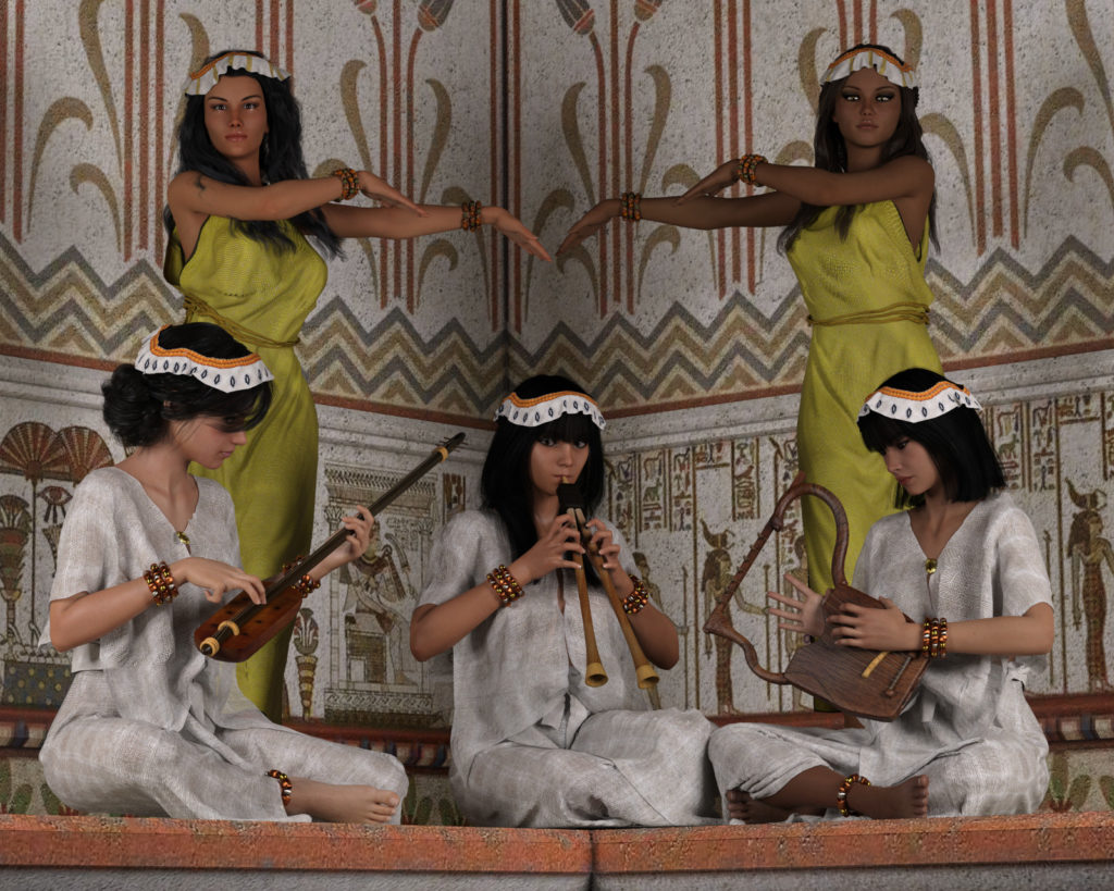dForce Ancient Musician for Genesis 3 Female and Genesis 8 Female_DAZ3D下载站