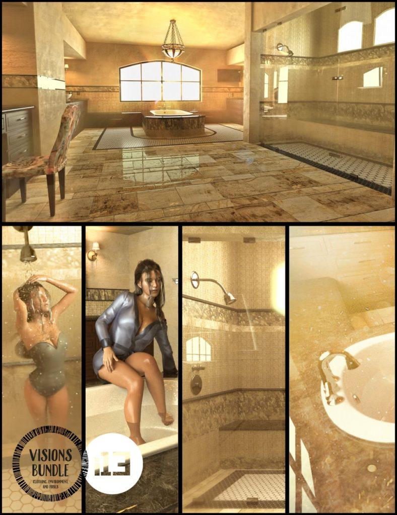 i13 Visions Bathroom Bundle_DAZ3D下载站