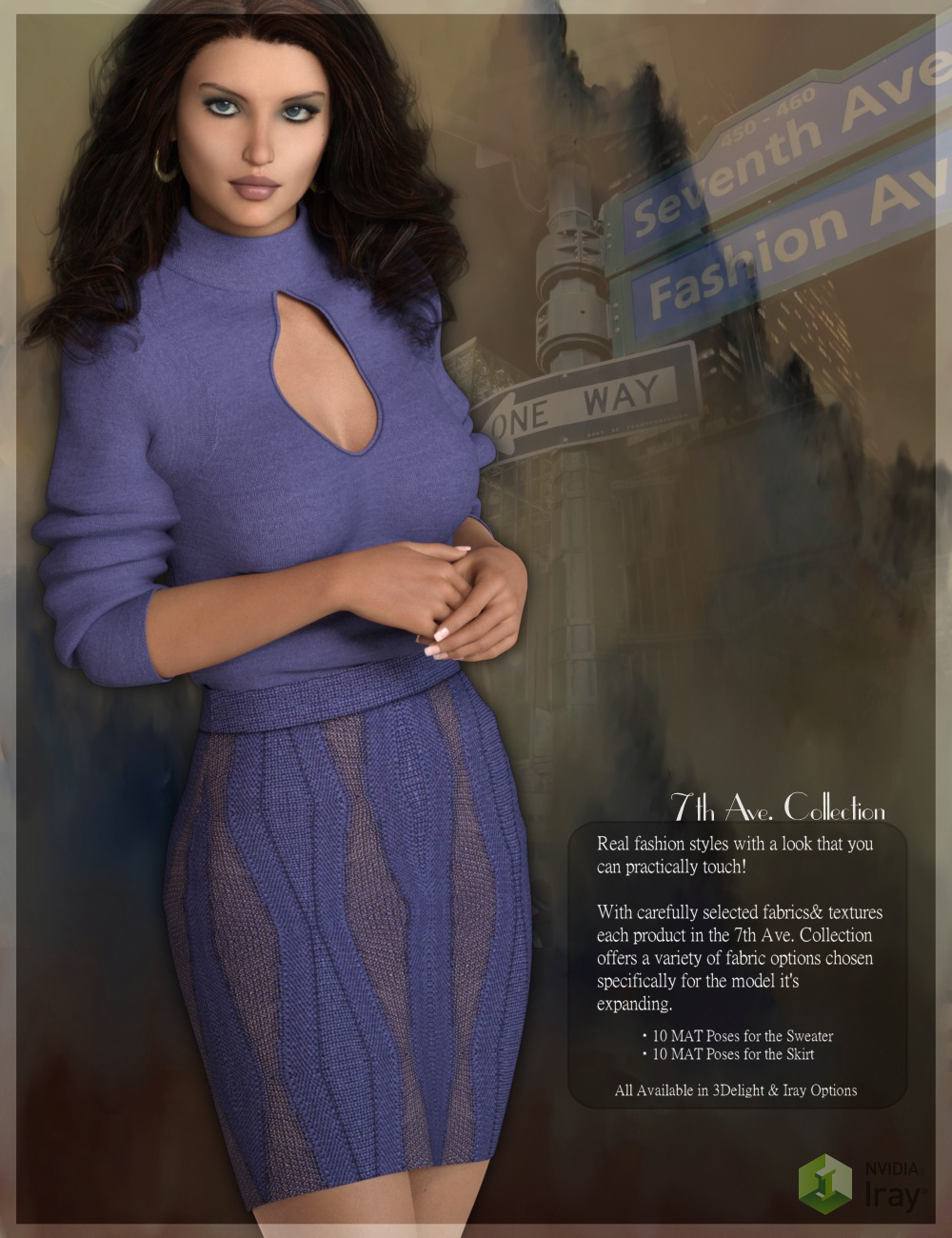 7th Ave: Fall Outfits_DAZ3D下载站