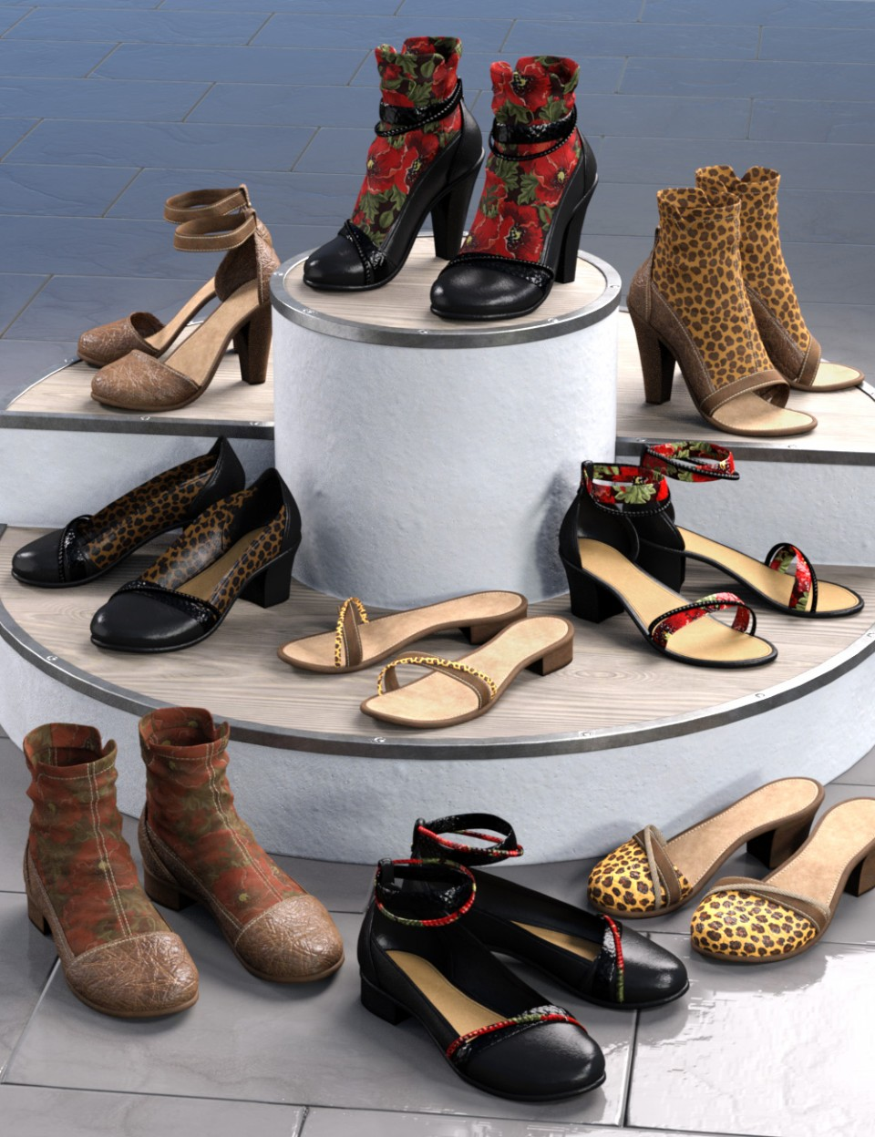 All Season Shoes for Genesis 8 Female(s)_DAZ3D下载站