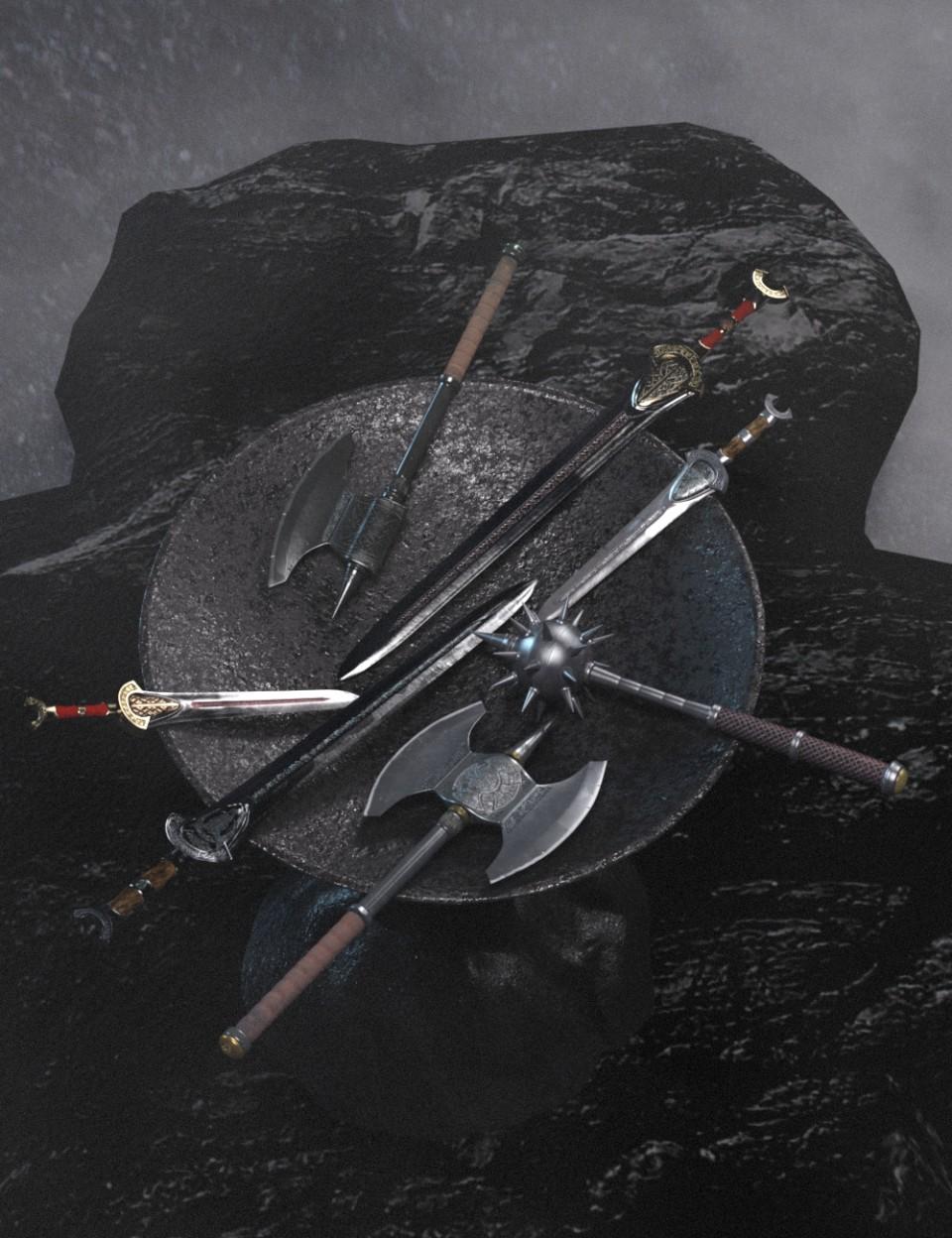 Ancient Weapons_DAZ3D下载站