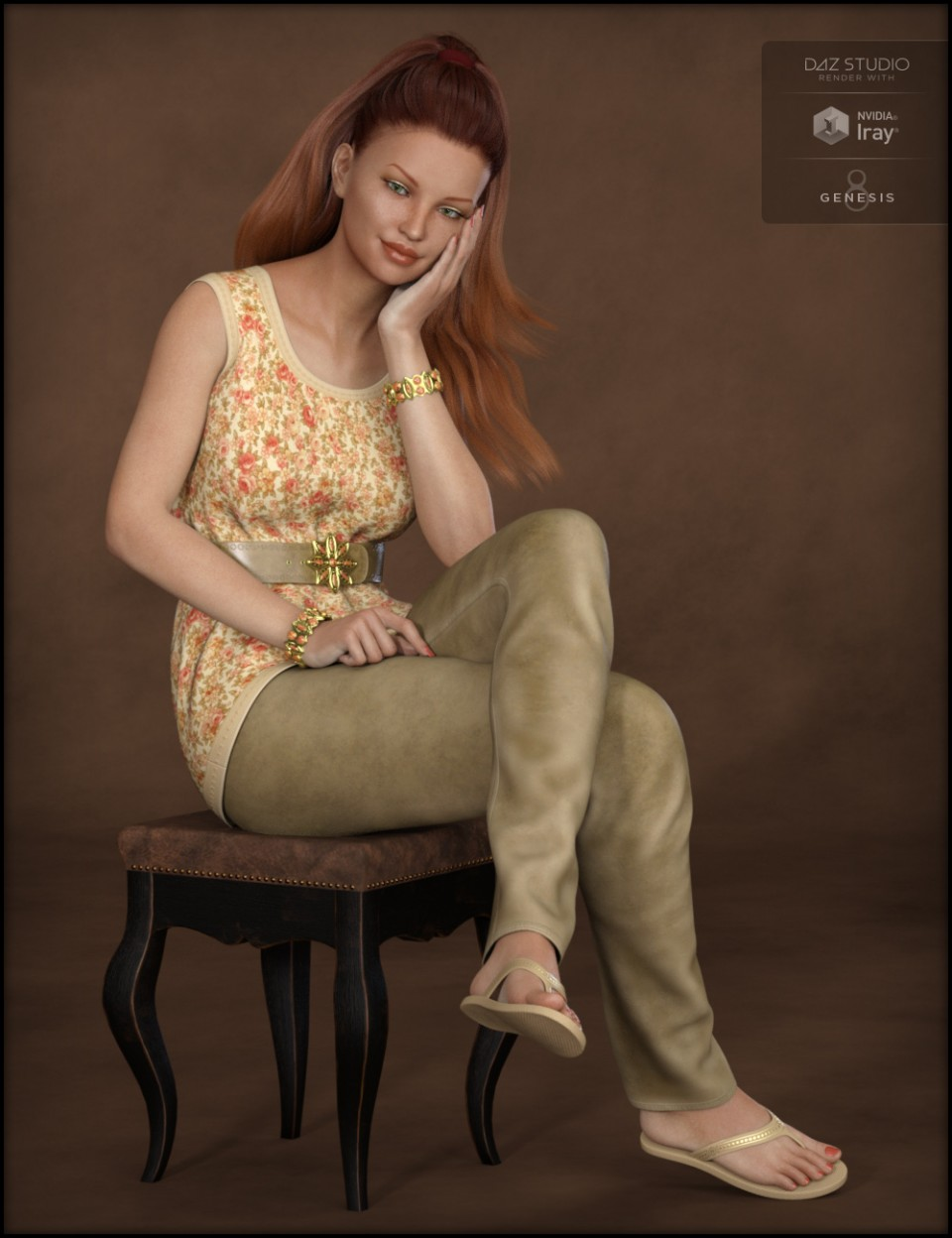 Blooming Outfit for Genesis 8 Female(s)_DAZ3D下载站