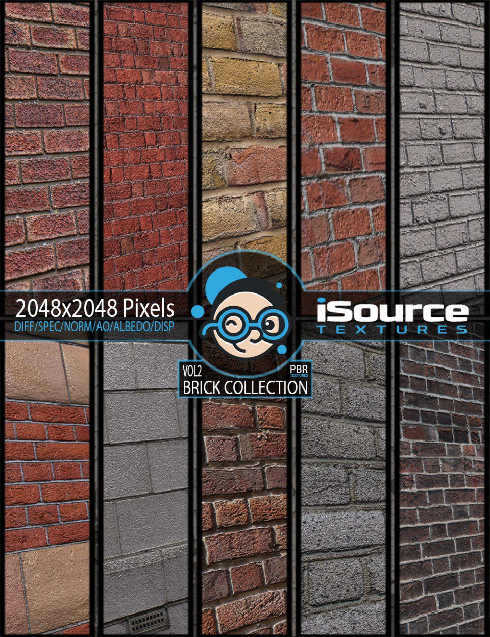 Brick Collection Merchant Resource – Vol2 (PBR Textures)_DAZ3D下载站
