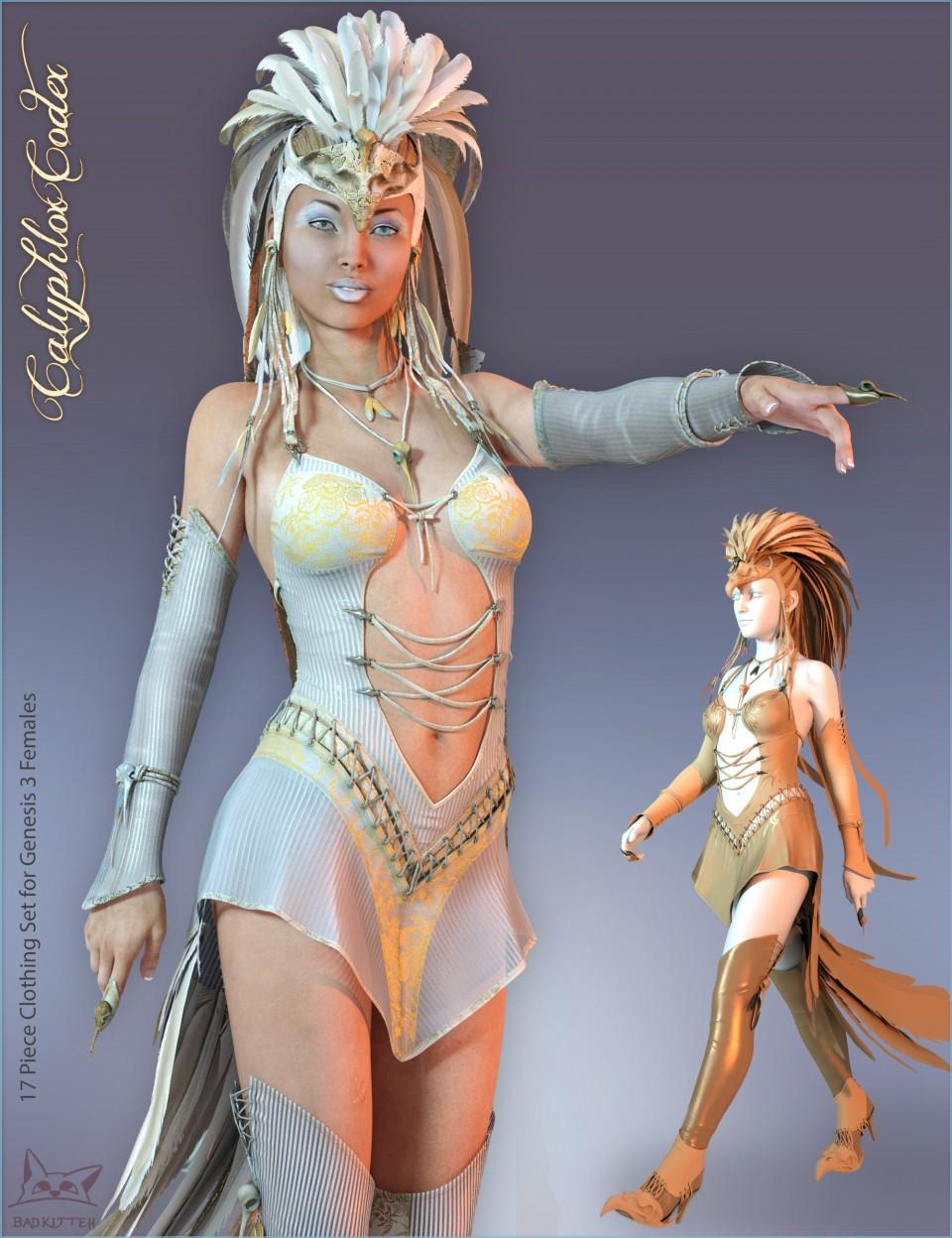 Calyphlox Codex for Genesis 3 Female(s)_DAZ3D下载站