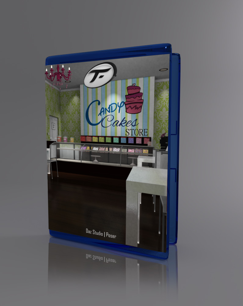 Candy Cakes Store_DAZ3D下载站