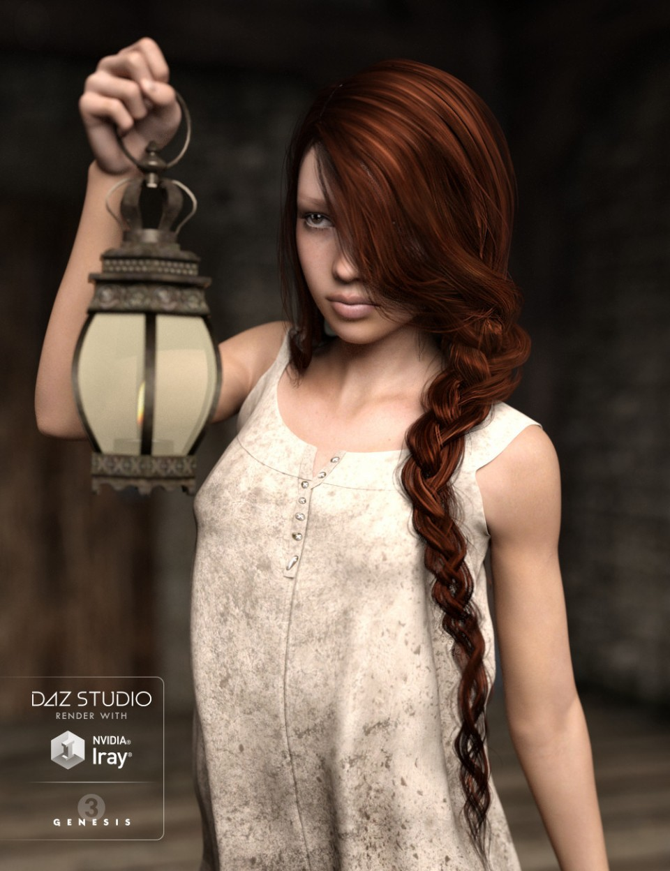 Careless Braid for Genesis 3 Female(s)_DAZ3D下载站