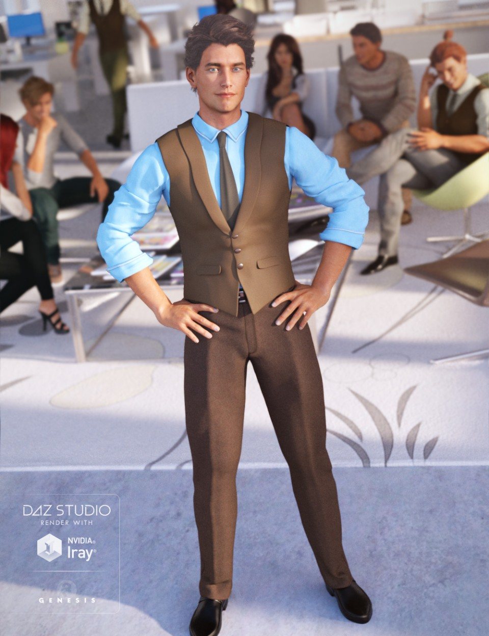 Casual Style for Genesis 3 Male(s)_DAZ3D下载站