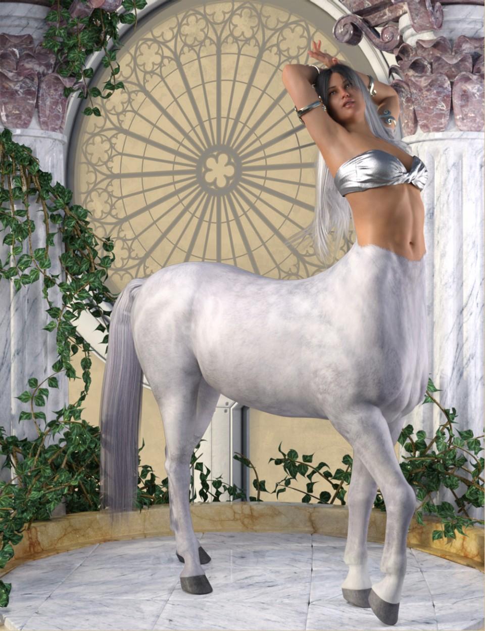 Centaur Action Poses for Genesis 8 Female Centaur_DAZ3D下载站