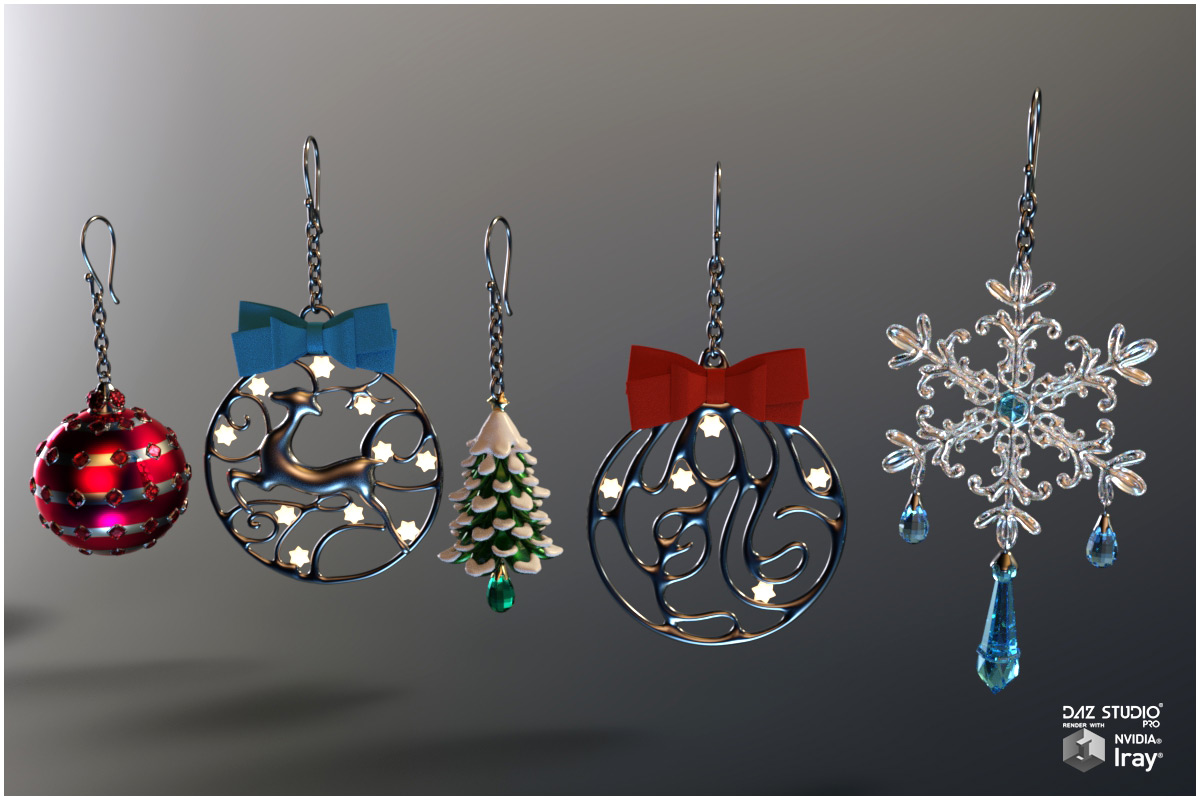 Christmas Jewels for Poser and DS_DAZ3D下载站